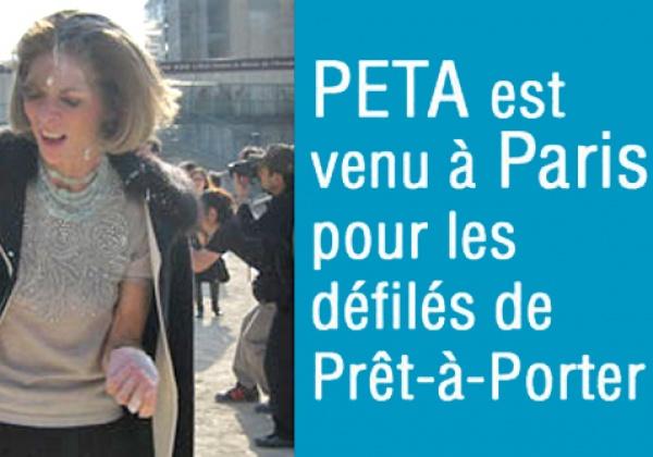PETA est venu à Paris pour les défilés de Prêt-à-Porter