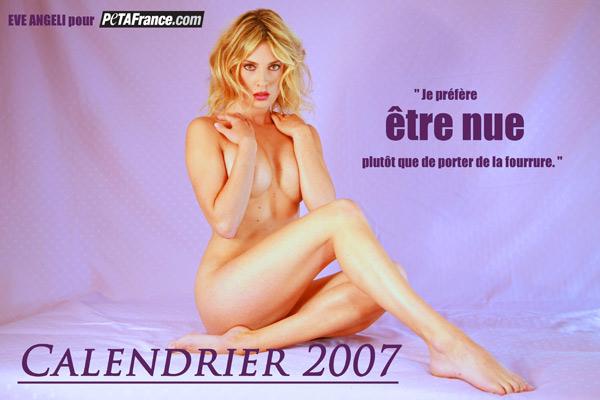 Eve Angeli publie un calendrier pour soutenir PETA France