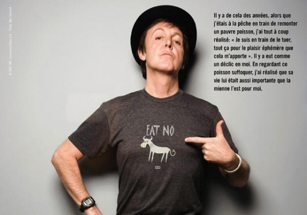 Je suis Paul McCartney, et je suis végétarien