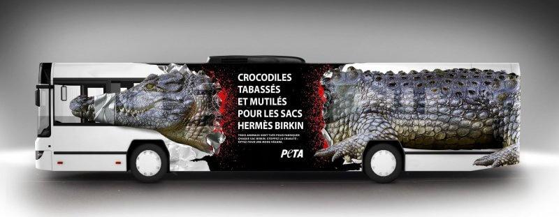 peta hermès crocodile sac