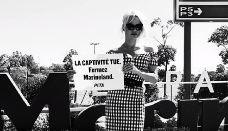 Pamela Anderson se rend au Marineland pour dénoncer la souffrance des orques