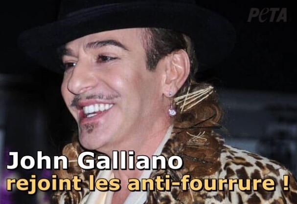 Exclu : John Galliano annonce qu'il abandonne la fourrure