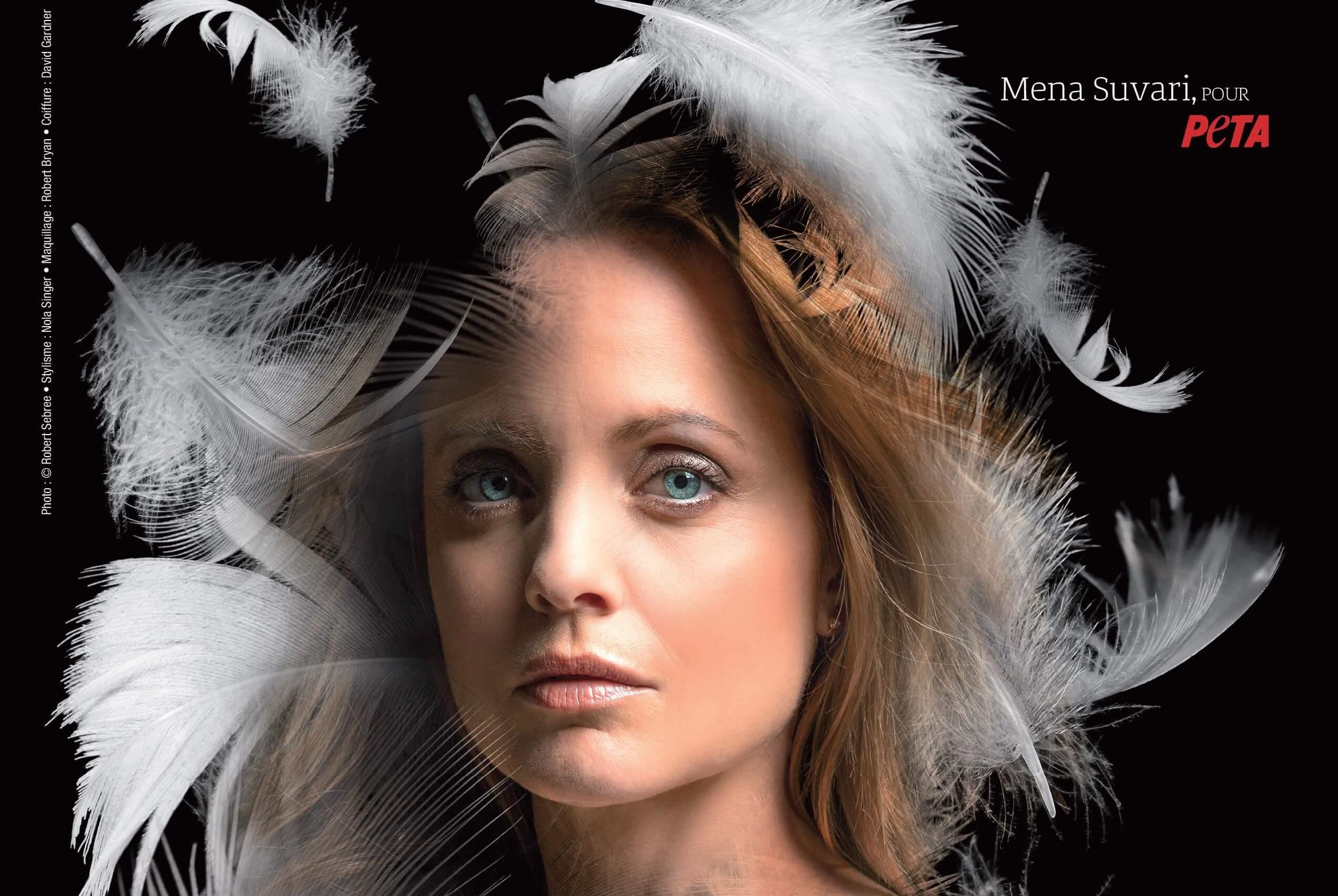 Mena Suvari dénonce la cruelle industrie du duvet