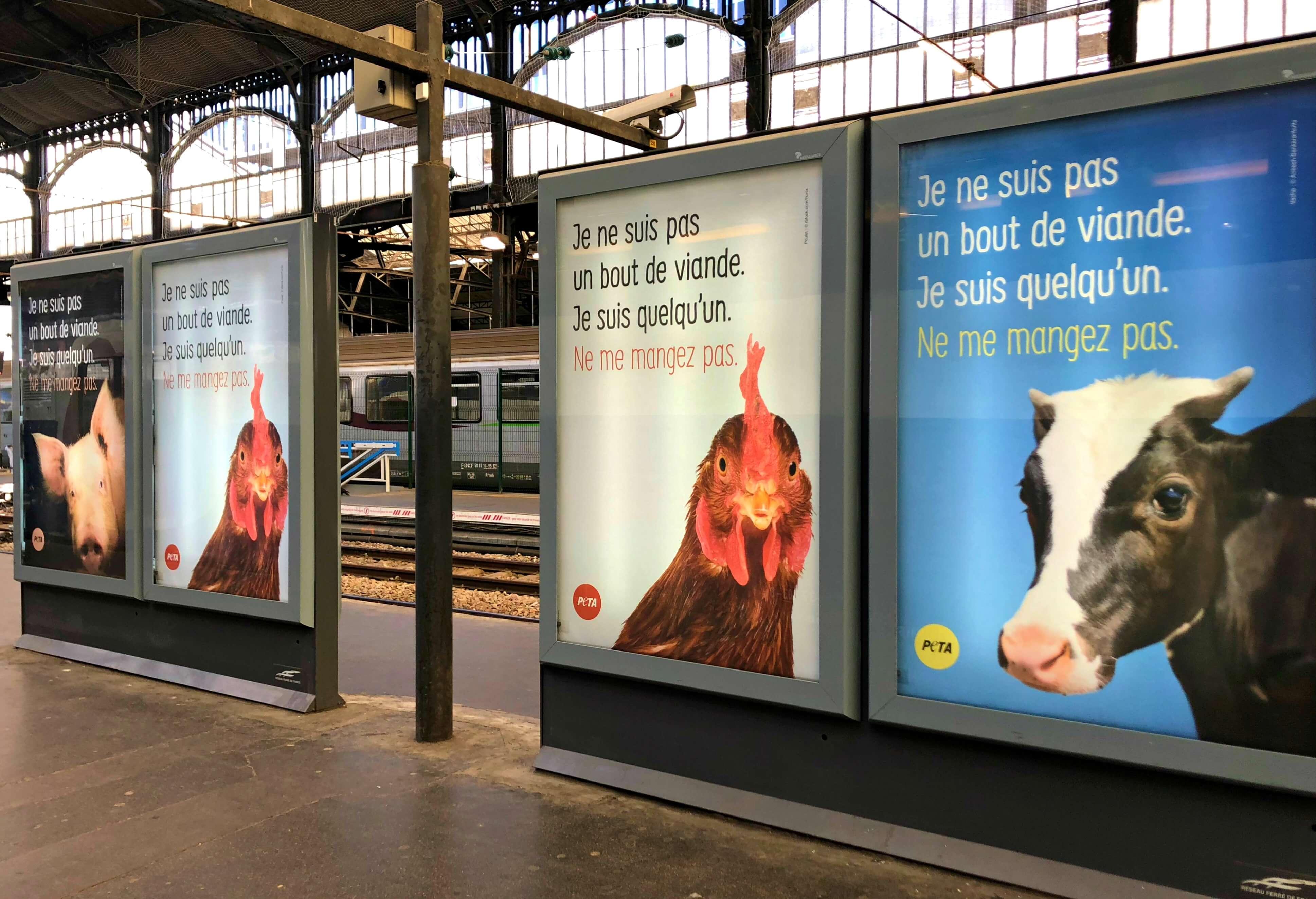 Des animaux envahissent la Gare Saint-Lazare pour sensibiliser les voyageurs