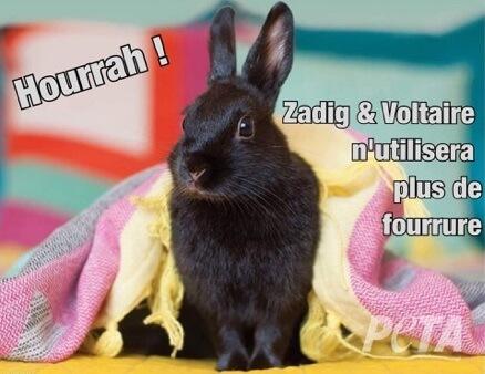 Hourrah ! Zadig & Voltaire ne vendra plus de fourrure