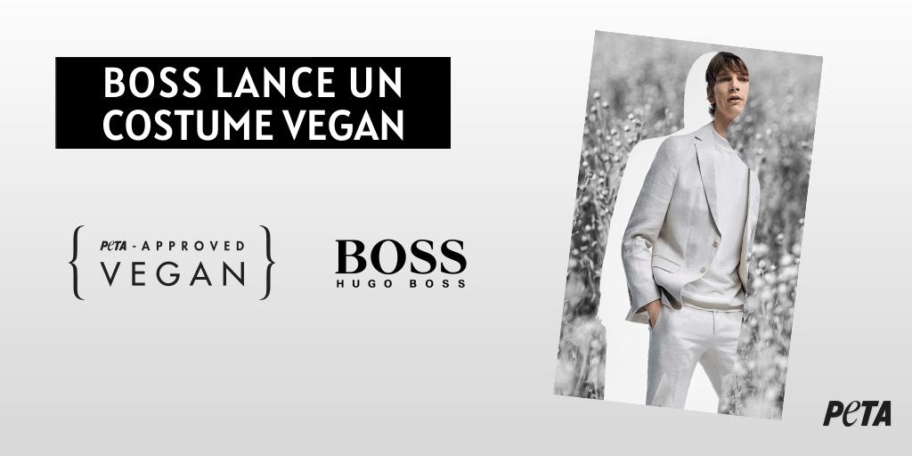 HUGO BOSS sort son tout premier costume végan et certifié par PETA