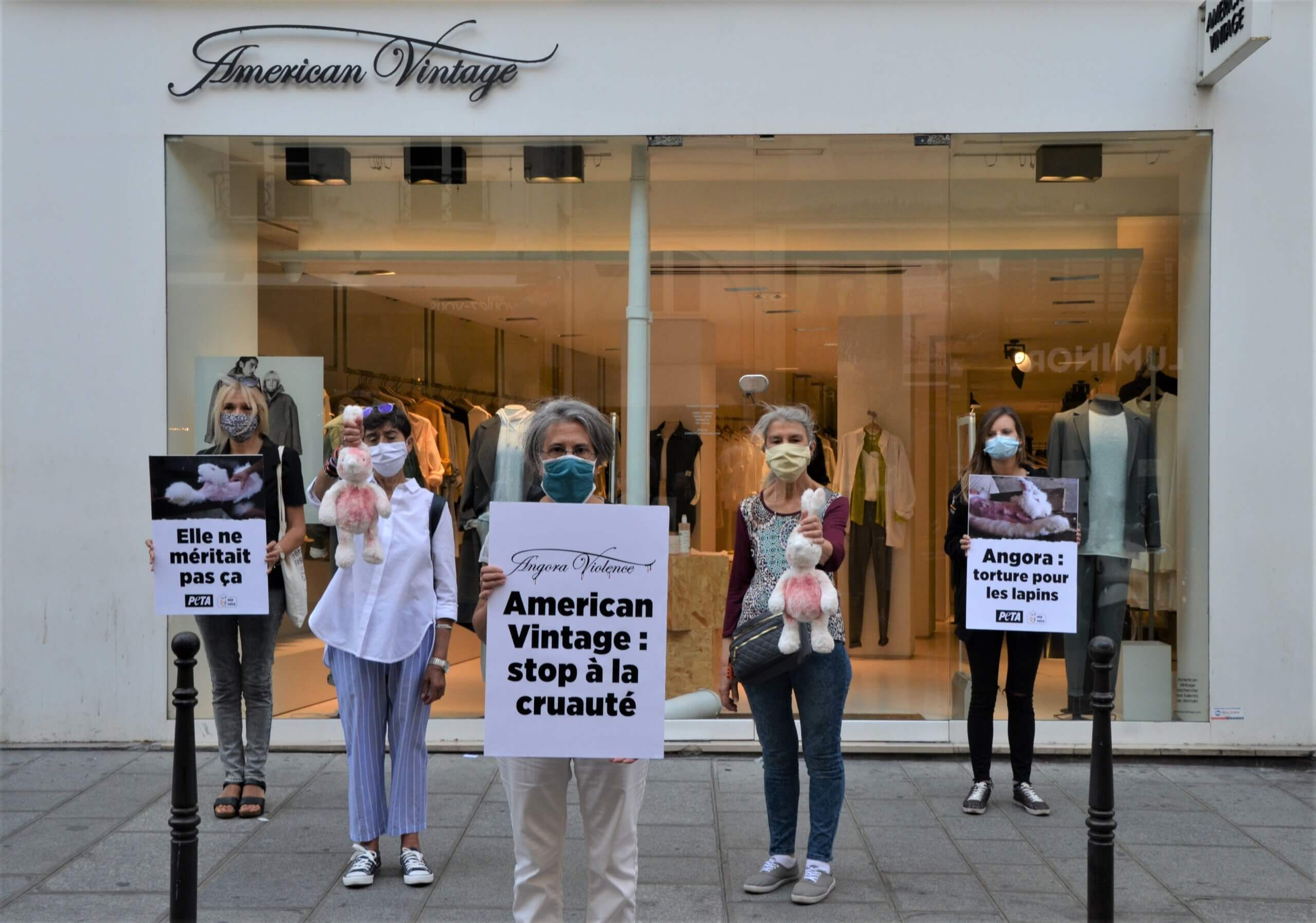 Journée d'action ! Des militants du monde entier appellent American Vintage à cesser l'angora