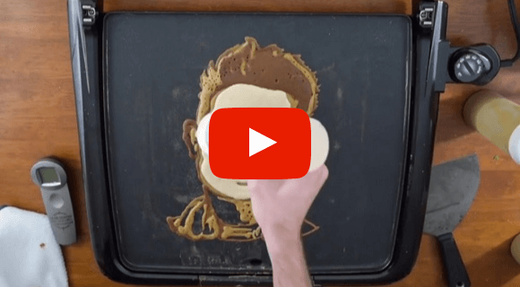 VIDÉO : un artiste réalise des portraits de célèbres végans en pancake pour Mardi gras