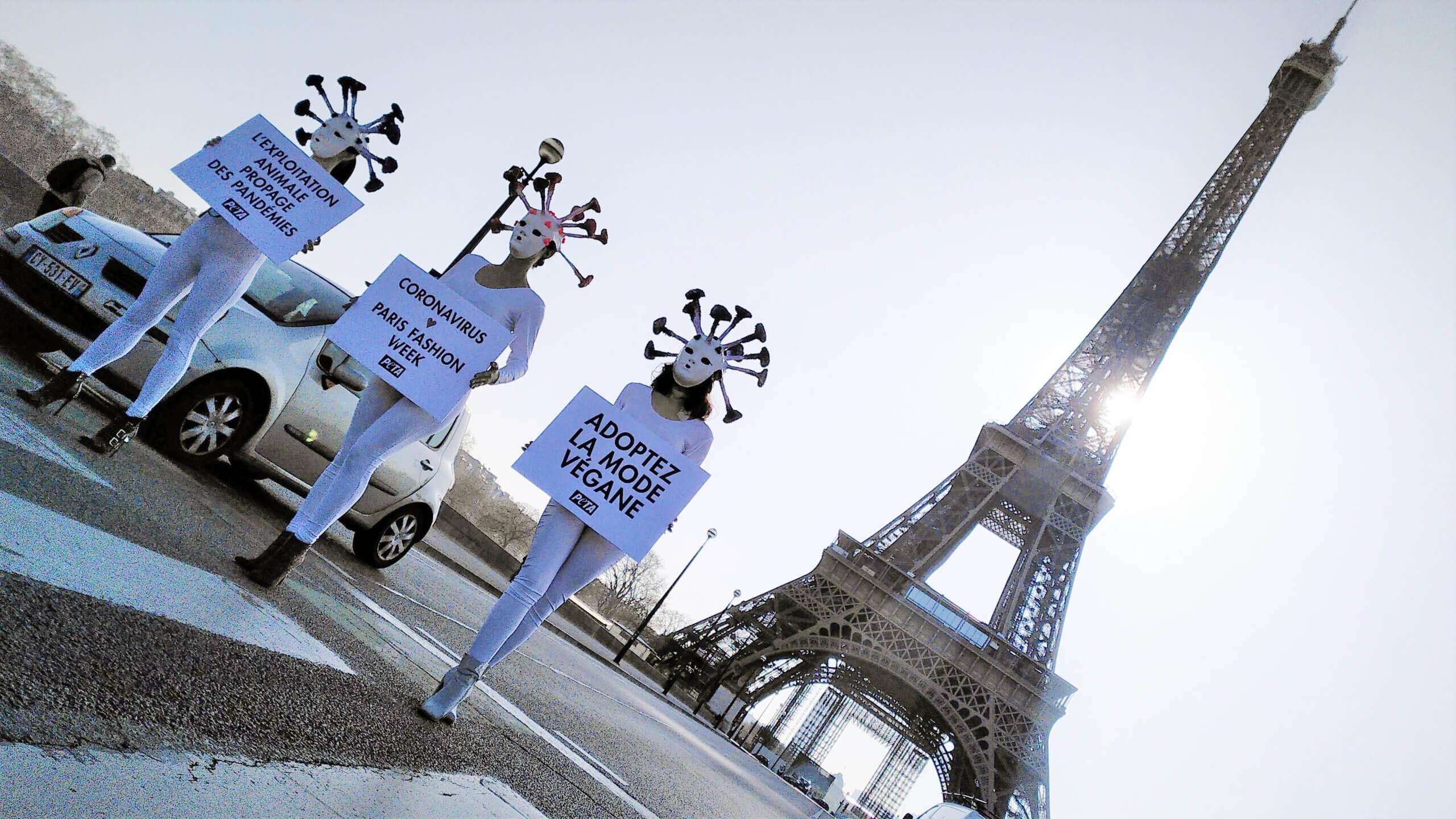 « Le coronavirus aime la Paris Fashion Week » accuse PETA